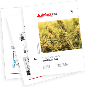 cover and two pages of Julabo Cannabis Workflow Whitepaper